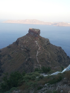 Skaro's Rock, Santorini, Greece - The Wiringi's Family Travel Blog